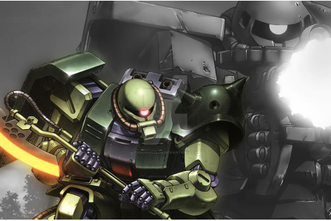 Zaku 2 Test Wallpaper by ApophisZeoN on DeviantArt