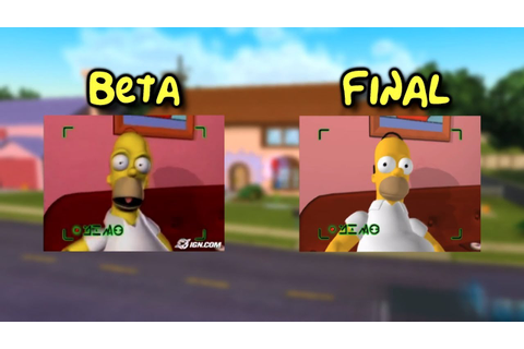 The Simpsons: Hit & Run - Game Introduction Comparison ...