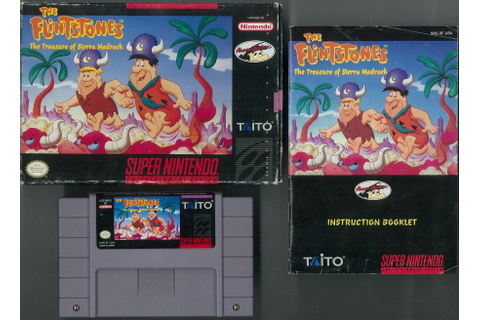 Super Nintendo (SNES) The Flintstones The Treasure of ...