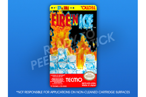 NES - Fire 'n Ice Label | Retro Game Cases