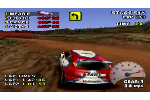 Need for Speed: V-Rally 2 Arcade Gameplay Level 1 (PSX,PS ...