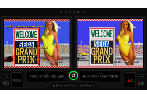 Super Monaco Gp (Arcade vs Sega Genesis) Side by Side ...