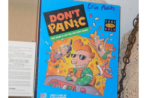DON'T PANIC Game Milton Bradley 1990 Vintage Board Game