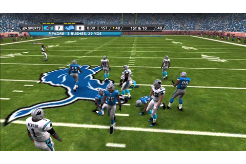 Madden NFL 12 Superstar Mode Game as RB - YouTube