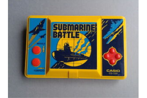 Casio game & watch lcd submarine battle cg-330 Good ...