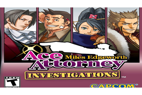 Ace Attorney INVESTIGATIONS Game Trailer - Miles Edgeworth ...