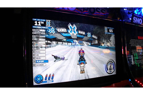 "Me VS the X Games"" Snocross"" Arcade Game - YouTube"