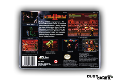 Mortal Kombat 2 SNES Super Nintendo Game Case Box Cover ...