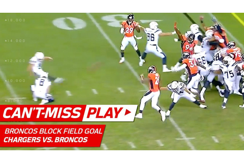 Broncos Game-Winning Field Goal Block! | Can't-Miss Play ...