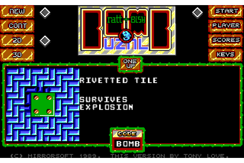 Bombuzal (1989) by Image Works MS-DOS game