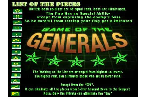 Game of the Generals (Salpakan) - YouTube
