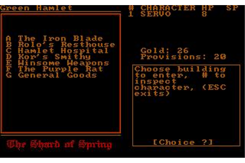 Shard of Spring, The Download (1987 Role playing Game)