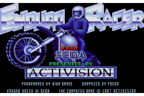 Enduro Racer (1987) by Giga Games Atari ST game