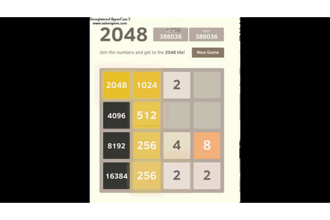 2048 game (32768) - YouTube