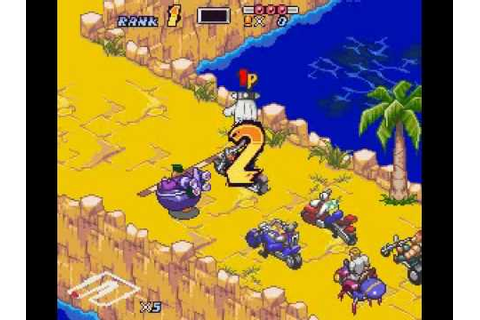 Biker Mice From Mars - SNES - Super Hard - Main Race ...