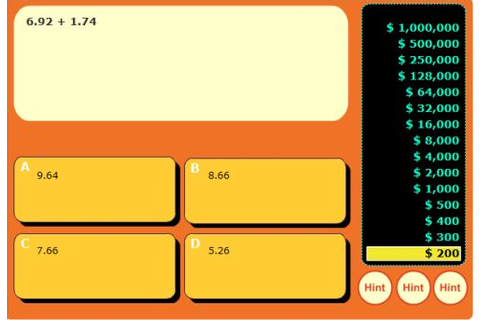Free Interactive Addition and Subtraction Decimal Game ...