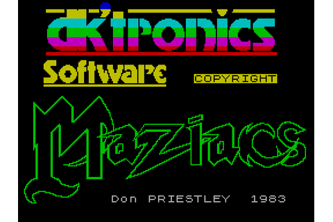 Maziacs (1983) by DKTronics ZX Spectrum game