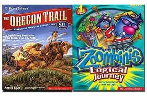 Amazon.com: Oregon Trail 5 & Zoombinis Logical Journey (2 ...