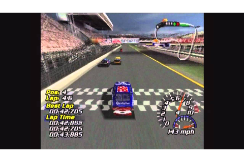 NASCAR 2001 (PS1) Race at Dustbowl - YouTube