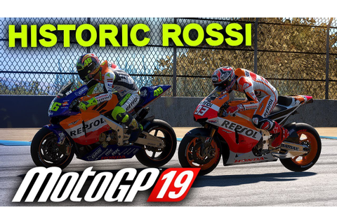 MotoGP 19 Historic Riders Gameplay - ROSSI ON A HONDA AT ...