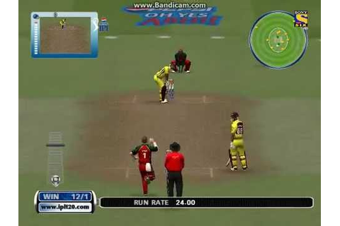 Cricket 07 IPL 2015 Game : Raining Sixes and Fours - YouTube