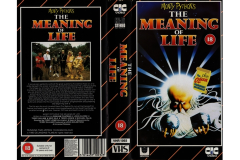 Monty Python's The Meaning of Life (1982)on CIC Video ...