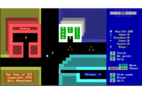Floppy Shop – ZZT Game Creation Engine for MS DOS – Space ...