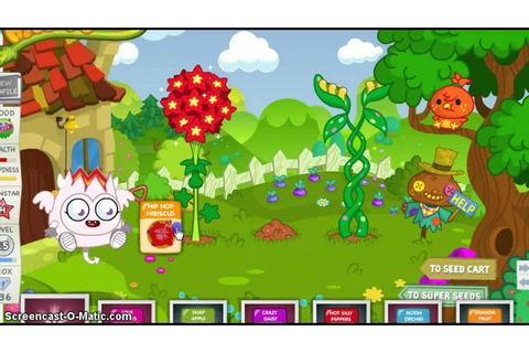Moshi Monsters Planting Blingo's Seed! - YouTube