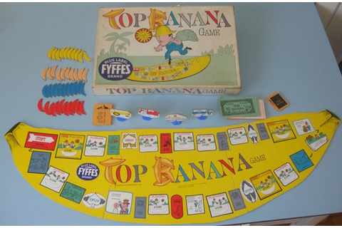 Fyffes TOP BANANA GAME 1965 vintage board game