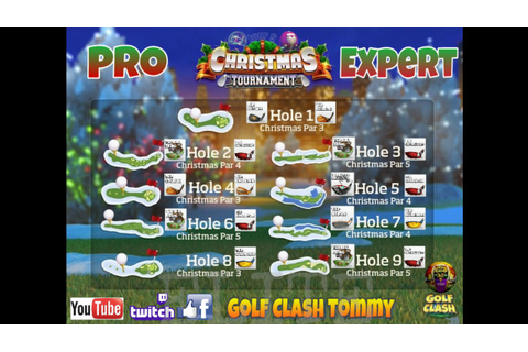 Golf Clash tips, Clubguide - Christmas tournament - PRO ...