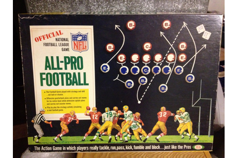 1967 Official NFL All Pro Football Board Game