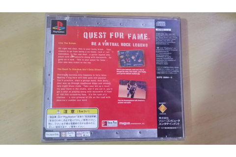 Quest For Fame Original Playstation 1 Aerosmith - Raro - R ...