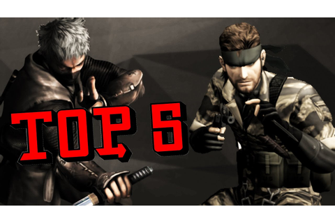 TOP 5 - PSP Stealth Games - YouTube