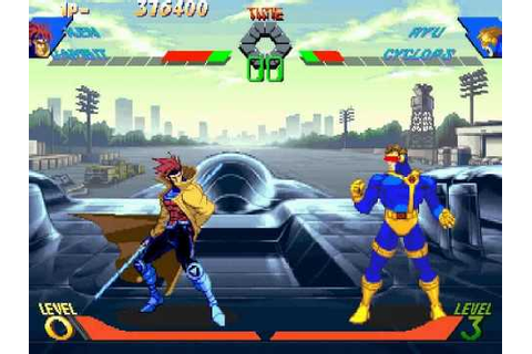 X-Men Vs Street Fighter Gameplay (Ken & Gambit) - YouTube
