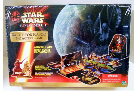 Star Wars Battle for Naboo 3-D action Hasbro unopened game