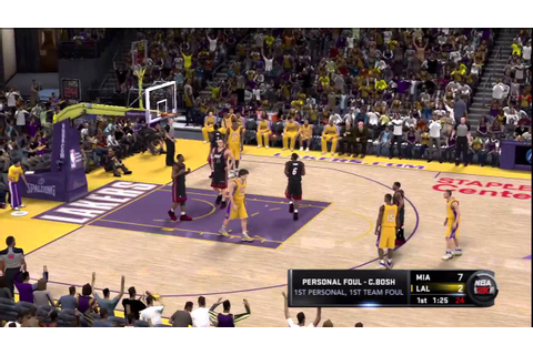 NBA 2K11 Gameplay (PS3) - Miami Heat vs Los Angeles Lakers ...