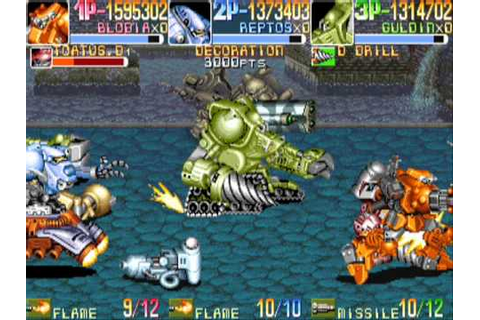 Armored Warriors 3 player Netplay arcade game - YouTube