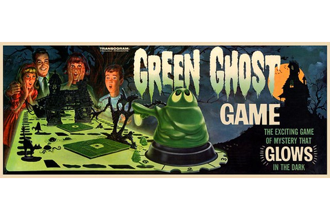 Transogram's Green Ghost Game | Vintage mid-1960s Glow in ...
