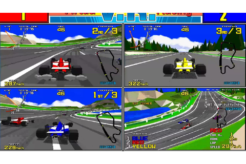 Virtua Racing - 3 Player game, MAME 170b - YouTube