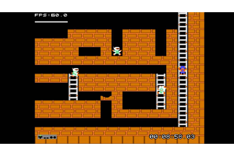 Lode Runner (NES 1984) Complete Game Stage 1~Stage 10 ...