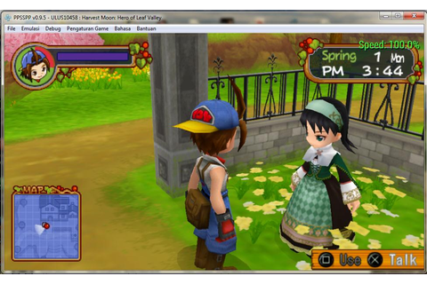 Harvest Moon Hero of Leaf Valley ISO for PPSSPP - isoroms.com