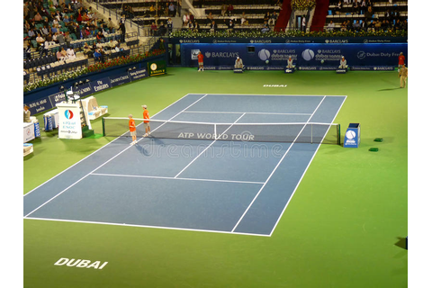 Dubai Tennis Stadium Center Court Editorial Stock Photo ...