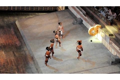 Xcaret - Pok-ta-Pok - Mayan ball game - YouTube