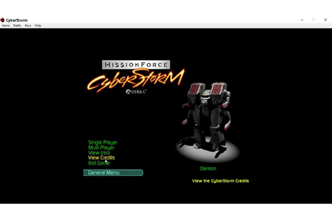 MissionForce: CyberStorm on Windows 10, native!, no shells ...