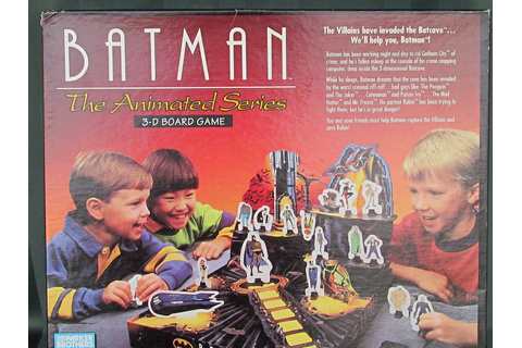 BATMAN The Animated Series 3D Board Game 1992 Parker Brothers