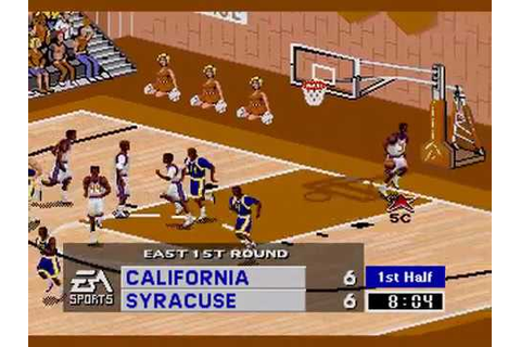 Coach K College Basketball-Sega Genesis-NCAA Tournament ...
