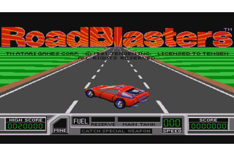 Roadblasters Sega Megadrive Gameplay & Commentary | Mega ...