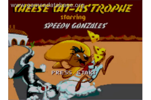 Cheese Cat-Astrophe starring Speedy Gonzales - Sega Game ...