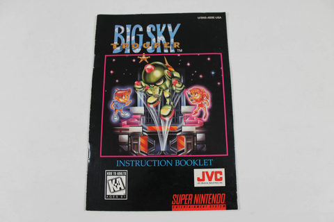 Manual - Big Sky Trooper - Fun Snes Super Nintendo
