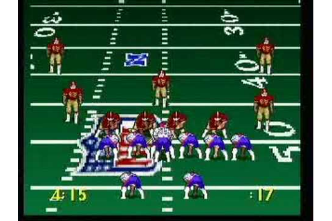 Troy Aikman NFL Football - Atari Jaguar - YouTube